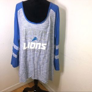 3X NFL Long Sleeve Detroit Lions
